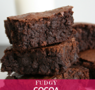 Fudgy Cocoa Brownies Recipe